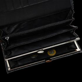 Kožená peňaženka dámska čierna Alessandro