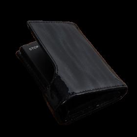 Peňaženka na karty - kožená čierna