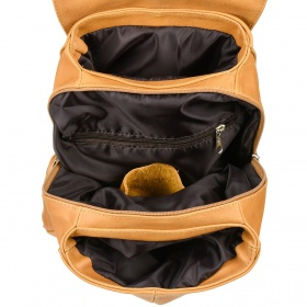 Kožený dámsky ruksak Beltimore - hnedý