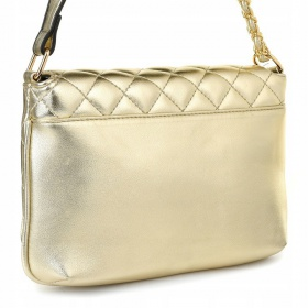 Listová kabelka LETINA - zlatá