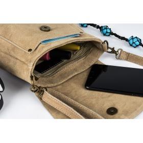 Semišová kožená kabelka TAUPE