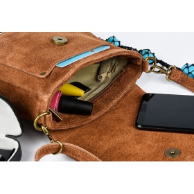 Semišová kožená kabelka CAMEL