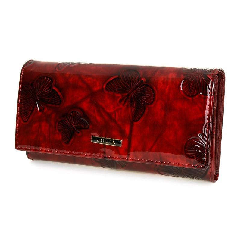 Kožená peňaženka bordová JULIA ROSSO