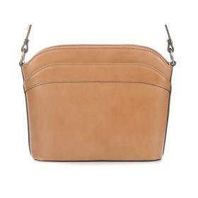 Béžová kožená kabelka Vera Pelle