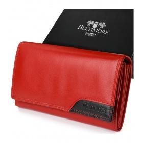 Červená kožená peňaženka BELTIMORE