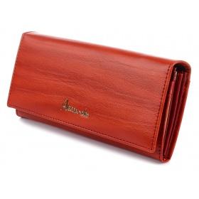 Oranžová kožená peňaženka Alessandro Paoli