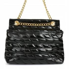 Čierna lakovaná kabelka na rameno TOPSTAR