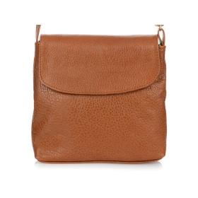 Malá kožená kabelka na rameno HENDY - CAMEL