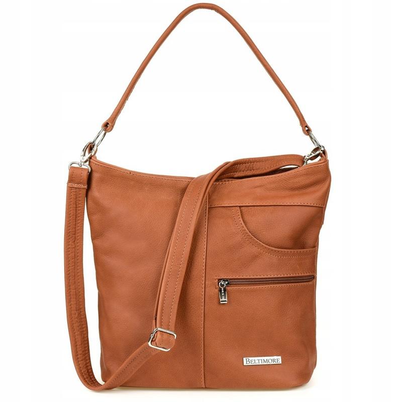 Kožená kabelka PREMIUM CAMEL