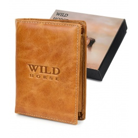Hnedá kožená peňaženka WILD HORSE