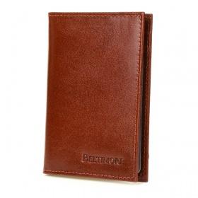 Kožená peňaženka na karty - hnedá