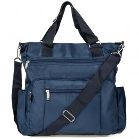 Dámska modrá kabelka PRAKTIK