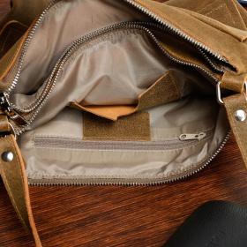 Dvojkomorová kožená hnedá kabelka VILEA