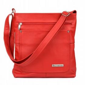 Červená kožená kabelka BELTIMORE ATRAKTIV