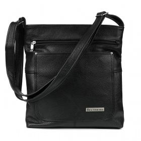 Čierna kožená kabelka BELTIMORE ATRAKTIV