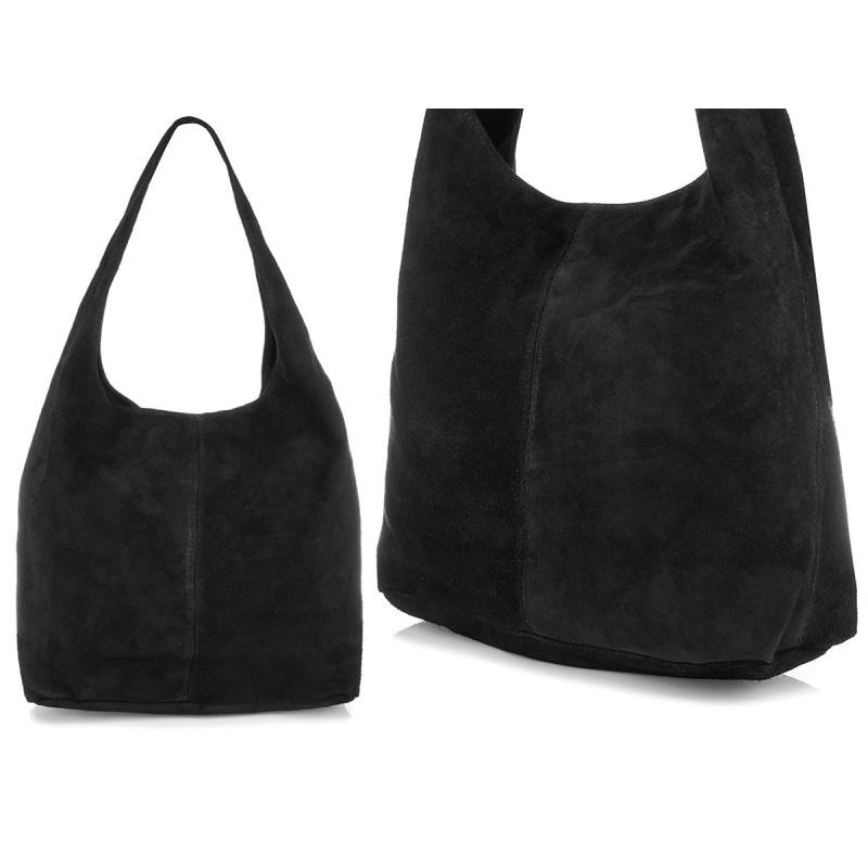 Čierna semišová kabelka NATALY
