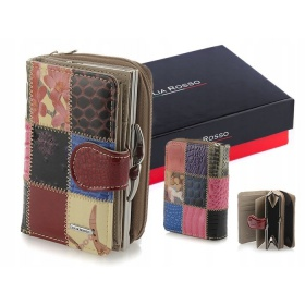 Kožená peňaženka JULIA ROSSO - PATCHWORK