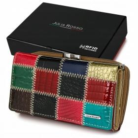 Farebná kožená peňaženka JR