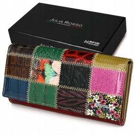 Kožená peňaženka farebný PATCHWORK