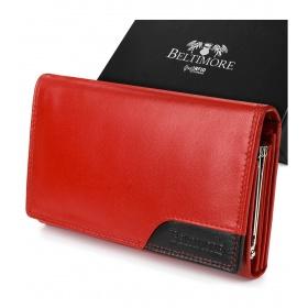 Červená dámska kožená peňaženka KLASIK BELTIMORE