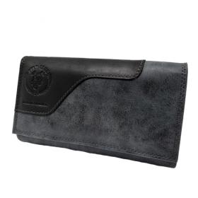 Čierna kožená peňaženka HARVEY MILLER POLO CLUB