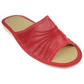 Červené dámske papuče