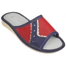 Dámske kožené červené papuče