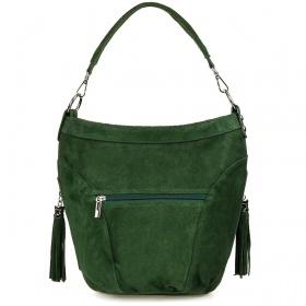 Zelená dámska semišová kabelka Bethany