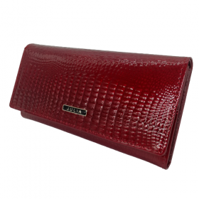 Bordová kožená lakovaná peňaženka JULIA ROSSO