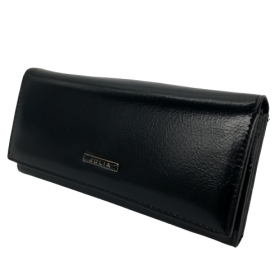 Čierna kožená peňaženka JULIA ROSSO