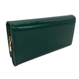 Smaragdovo zelená kožená peňaženka GREGORIO