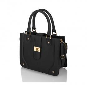 Kožená čierna dámska kabelka do ruky Diana