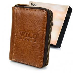 Hnedá kožená pánska peňaženka WILD