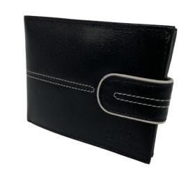Čierna pánska kožená peňaženka Alessandro Paoli