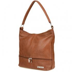 Hnedá kožená kabelka Beltimore DUO