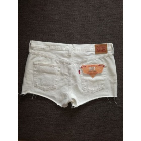 Biele dámske krátke nohavice Levi Strauss
