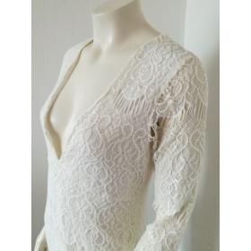 Biele krajkové dámske šaty...