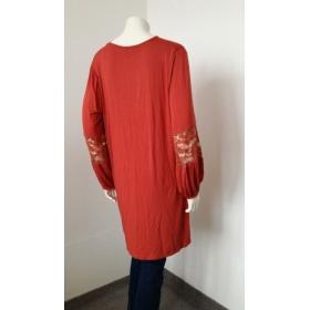 Dámska červeno-oranžová tunika Boohoo