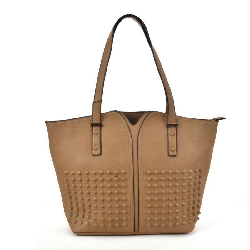 hnedá praktická dámska kabelka so zaujímavým riešením na prednej strane
